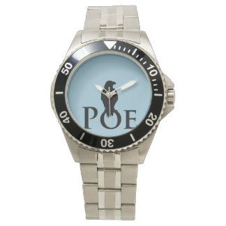Proud ravens sits on the signature POE. Wrist Watch