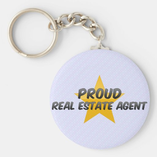 Proud Real Estate Agent Keychains