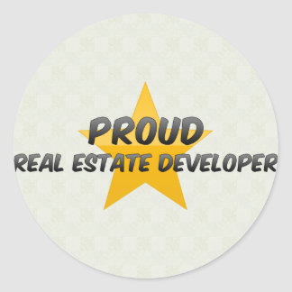 Proud Real Estate Developer Sticker