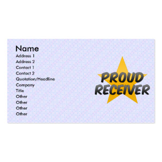 Proud Receiver Business Card