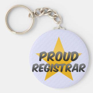 Proud Registrar Basic Round Button Keychain