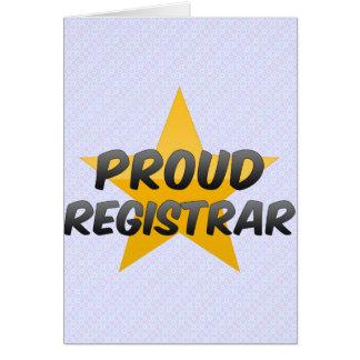 Proud Registrar Card