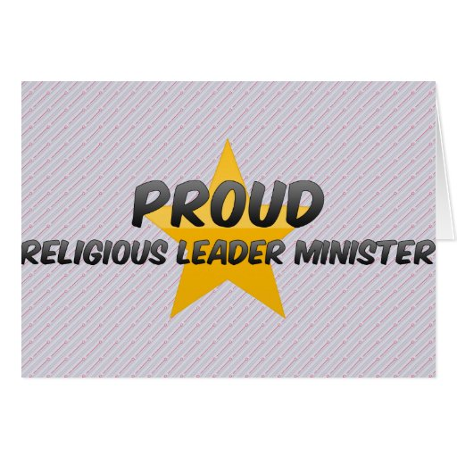 Proud Religious Leader Minister Cards