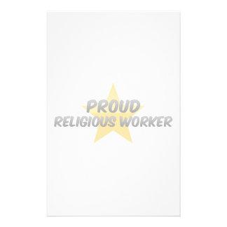 Proud Religious Worker Custom Stationery