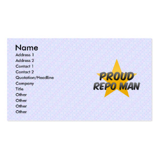 Proud Repo Man Business Card