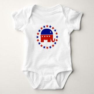 Proud Republican Circle Stars Baby Bodysuit