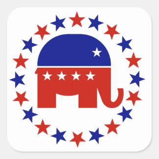 Proud Republican Circle Stars Sticker