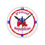 Proud Republican Clock