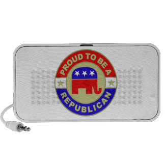 Proud Republican Doodle iPhone Speaker