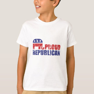 Proud Republican Elephant Distressed T-Shirt