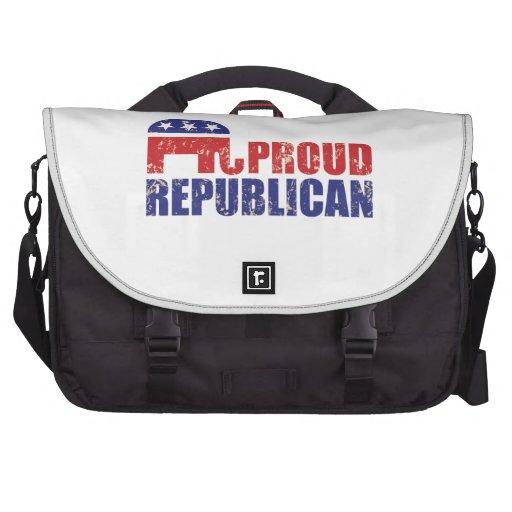 Proud Republican Elephant Distressed Tan Bag For Laptop