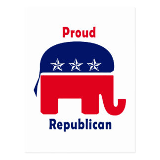Proud Republican Elephant with Stars Postcard