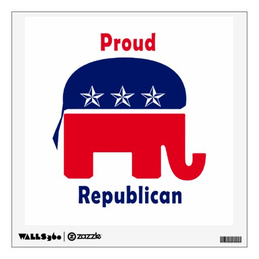 Proud Republican Elephant with Stars Wall Skins