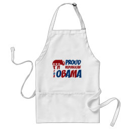 Proud Republican For Obama BBQ Apron
