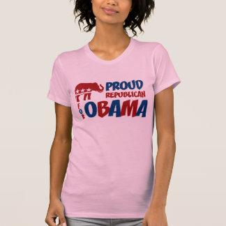 Proud Republican For Obama Ladies T-Shirt