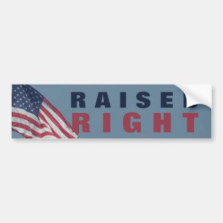 Proud Republican Raised Right   Funny Political Bumper Sticker