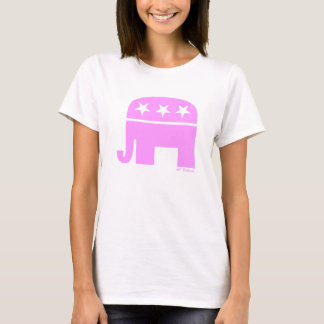 Proud Republican Woman Pink Elephant GOP T-Shirt