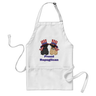 Proud Repuglican Fawn and Black Pug Tees, Gifts Adult Apron
