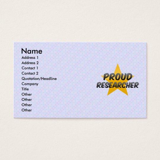 Proud Researcher Business Card