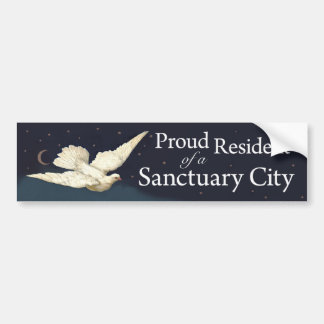 """Proud Resident"" with Dove Bumper Sticker"