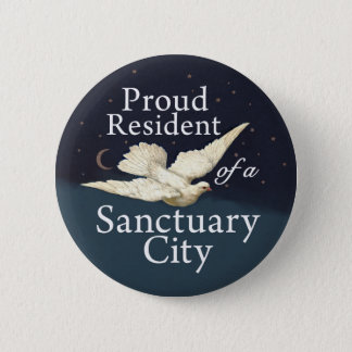 """""""Proud Resident"""" with Dove Pinback Button"""