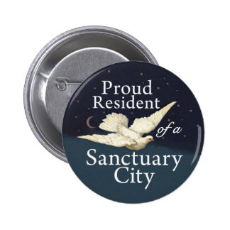 """Proud Resident"" with Dove Pinback Button"