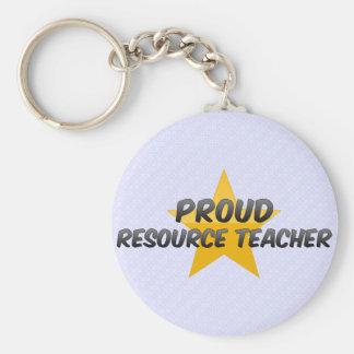 Proud Resource Teacher Basic Round Button Keychain