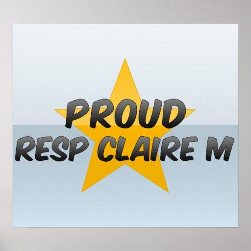 Proud Resp Claire M Poster