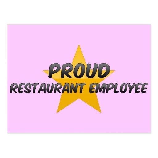 Proud Restaurant Employee Post Card