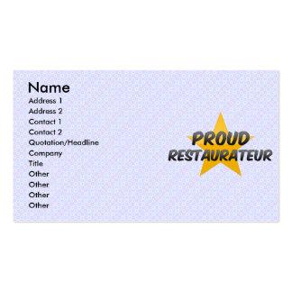 Proud Restaurateur Business Card Templates
