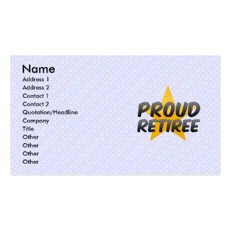 Proud Retiree Business Card