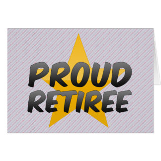 Proud Retiree Card