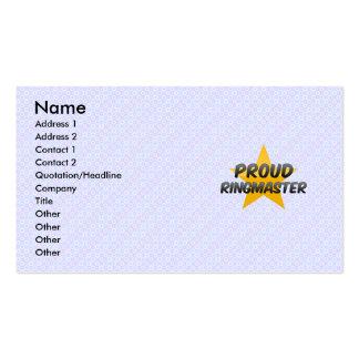 Proud Ringmaster Business Card