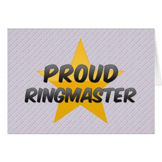 Proud Ringmaster Card