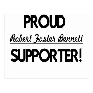 Proud Robert Foster Bennett Supporter! Postcard