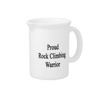 Proud Rock Climbing Warrior Drink Pitcher
