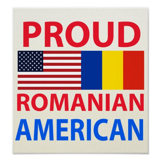 Proud Romanian American Poster