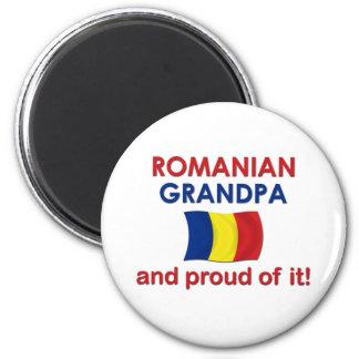 Proud Romanian Grandpa 2 Inch Round Magnet