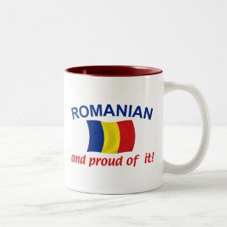 Proud Romanian Two-Tone Coffee Mug