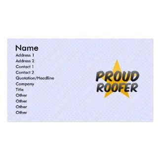 Proud Roofer Business Card
