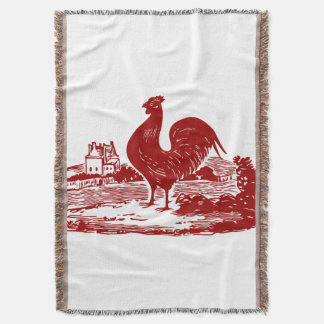 Proud Rooster American Country Style Throw