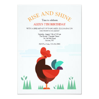 Proud Rooster Invitation