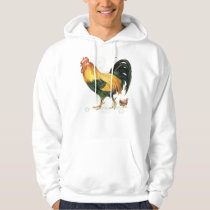 Proud Rooster with hen and chickens. Hoodie