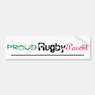 proud rugby parent car bumper sticker