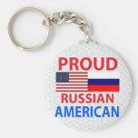 Proud Russian American Basic Round Button Keychain
