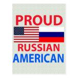 Proud Russian American Post Card