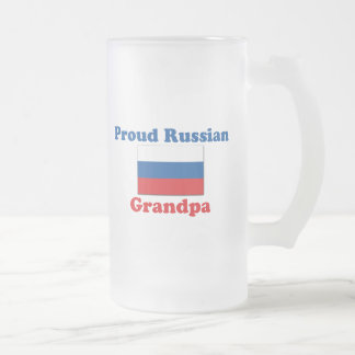 Proud Russian Grandpa Frosted Glass Beer Mug