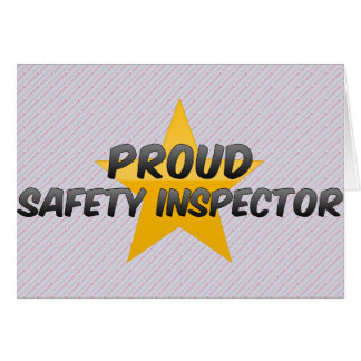 Proud Safety Inspector Greeting Card