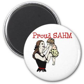 Proud SAHM Refrigerator Magnets