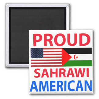 Proud Sahrawi American Refrigerator Magnets